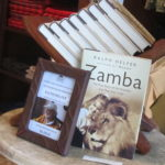 At the Mawingo Shop, Ralph Helfer's books on sale