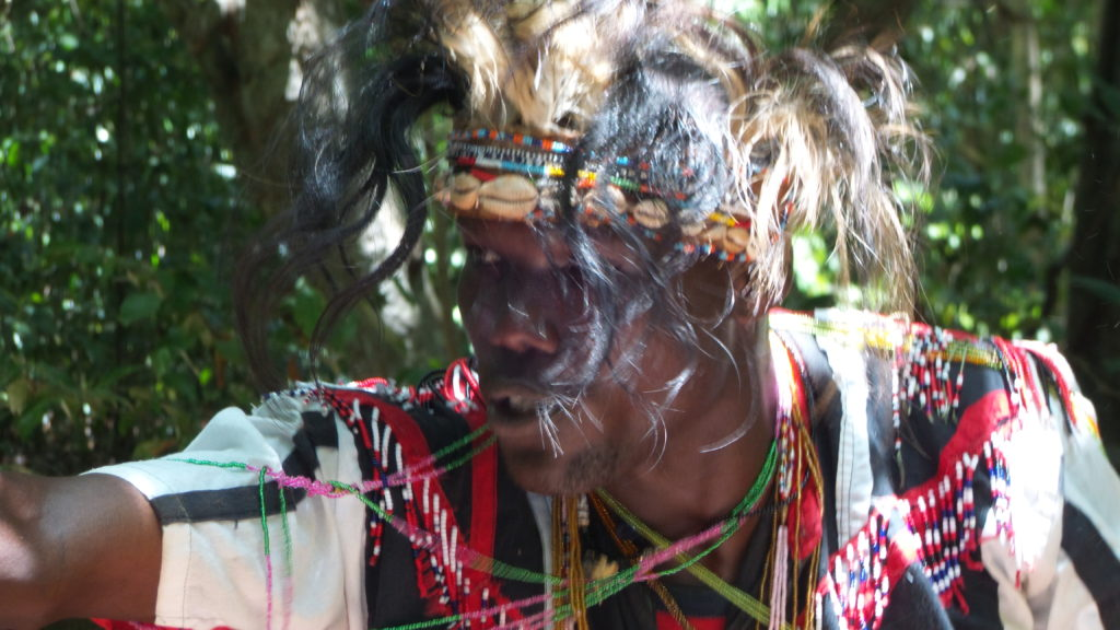 A medicine man in the Kaya