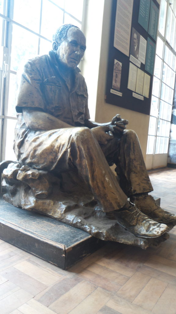 Sculpture of Dr. Louis Leakey, one of Kenya's leading  paleoanthropologist and archeologists