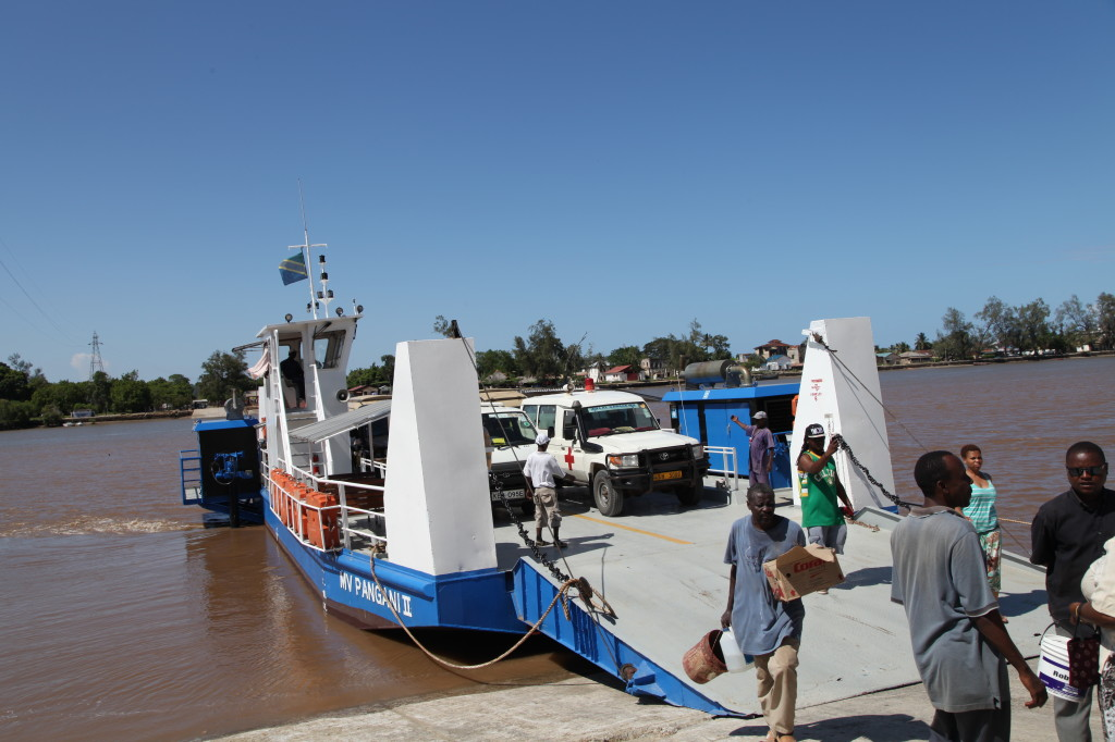 The ferry at Pangani