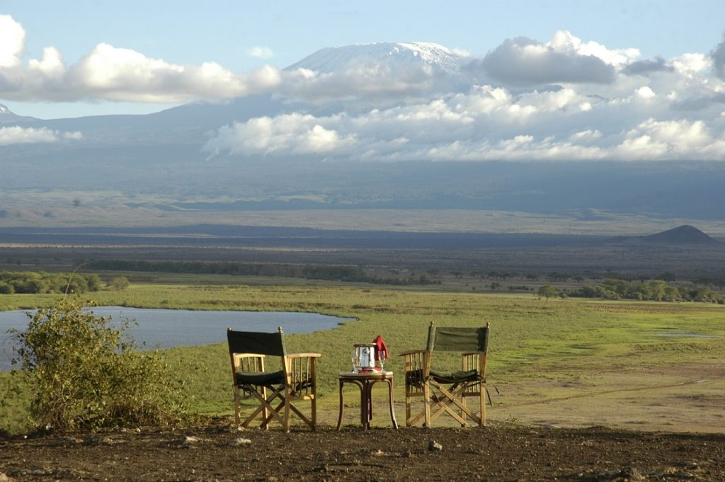Sundowners never looked this inviting. Amboseli Serena