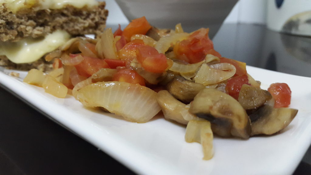 I sauteed mushrooms, onions and tomatoes