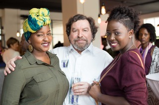 Cece Sagini, Michel Galloyer  and Sara Karay at the Le grenier a pain launch on Saturday