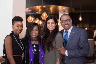 Janet Mbugua, Sheila Mwanyiga, Pinky Ghelani and Michel Sidibe, Executive Director UNAIDS