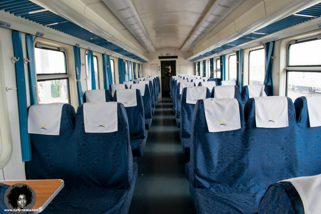 Second class seating is spacious and adequate | Image via Marion Vionna (@KurlyCheeks)